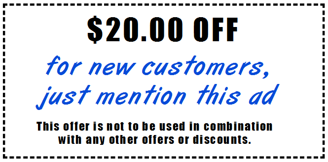20 off for new customers