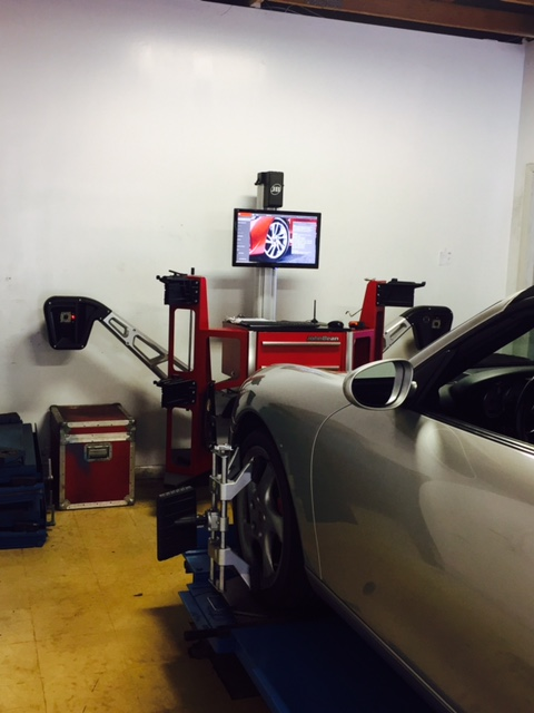 German Automobile Getting an Alignment at German Excellence